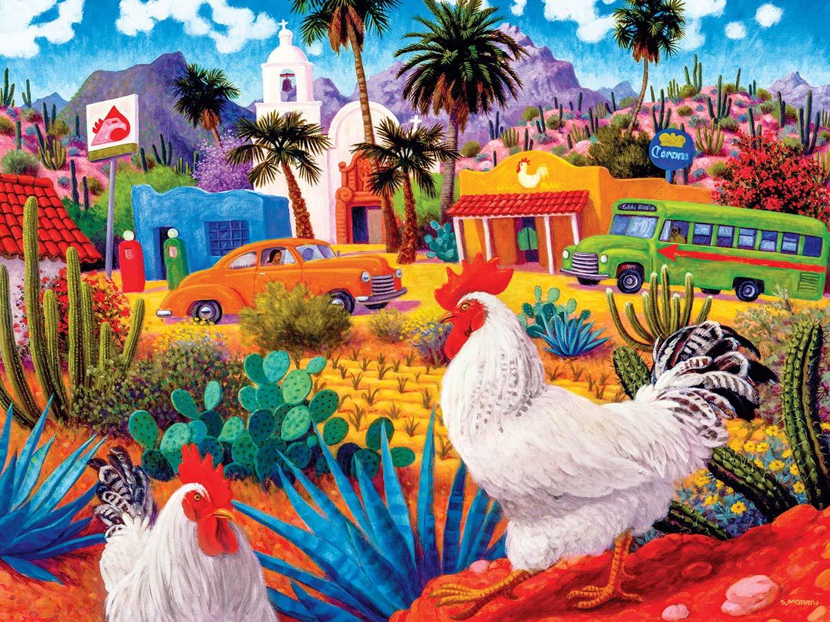 Gallos Blancos Landscape Jigsaw Puzzle