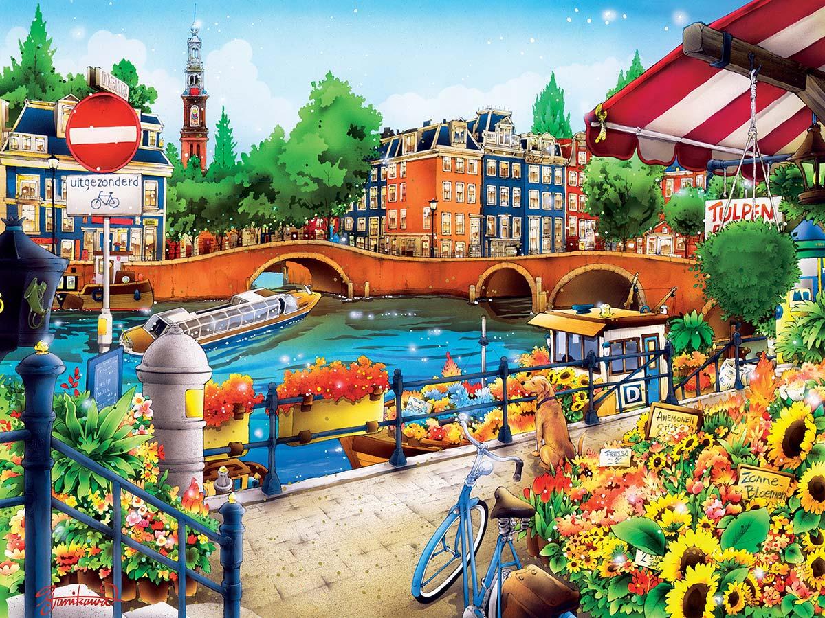 B/éaba Sac de Voyage Amsterdam II Play Print Marsala