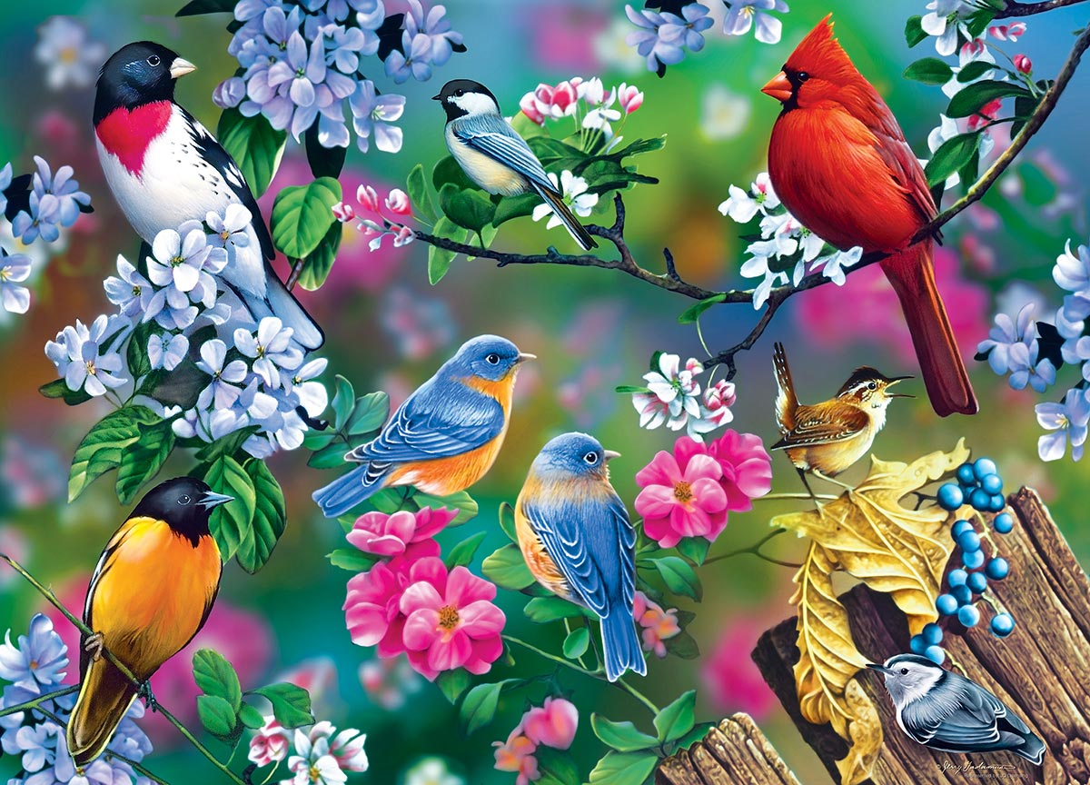 Songbird Collage Birds Jigsaw Puzzle