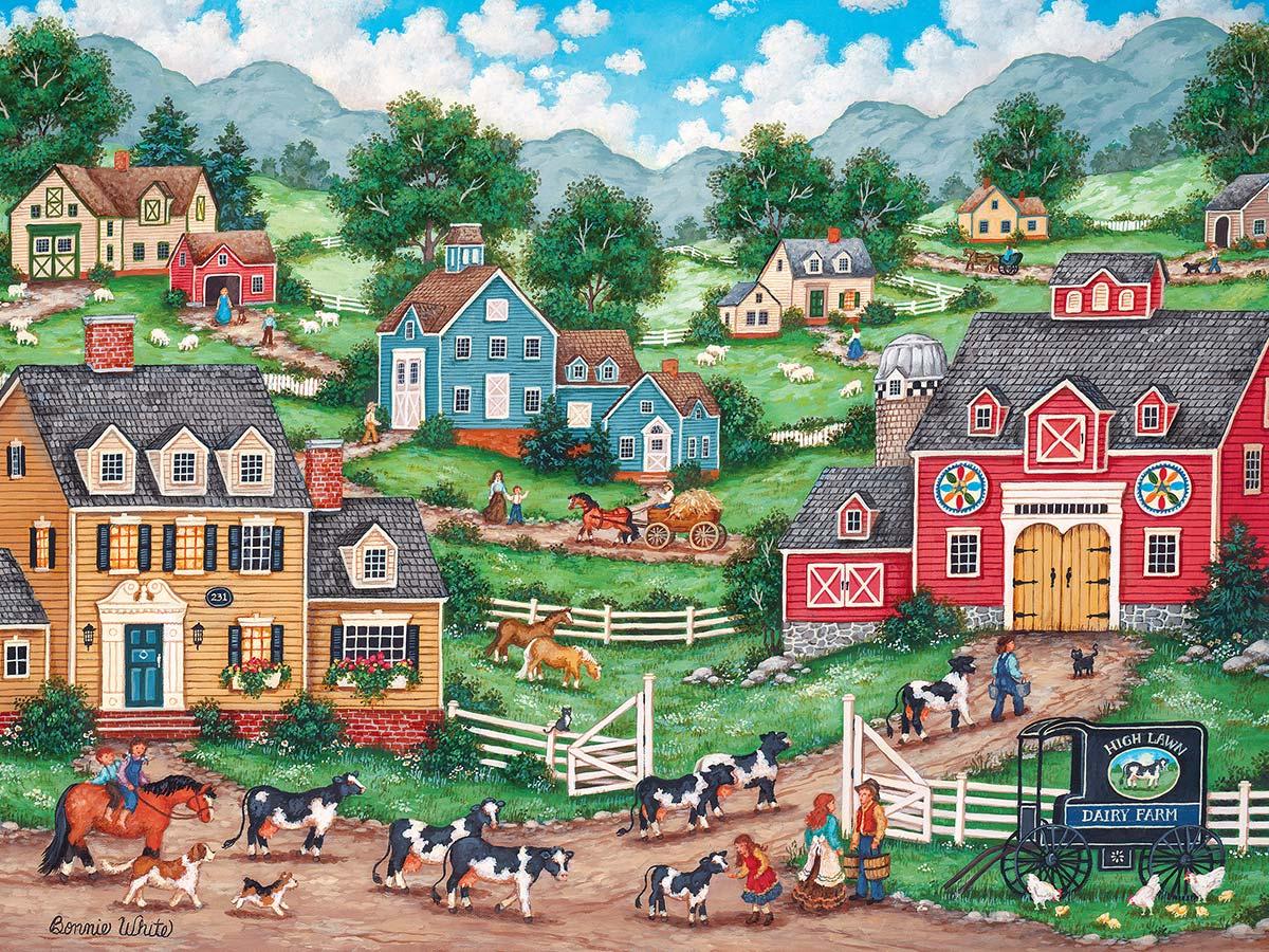 The Curious Calf Americana & Folk Art Jigsaw Puzzle