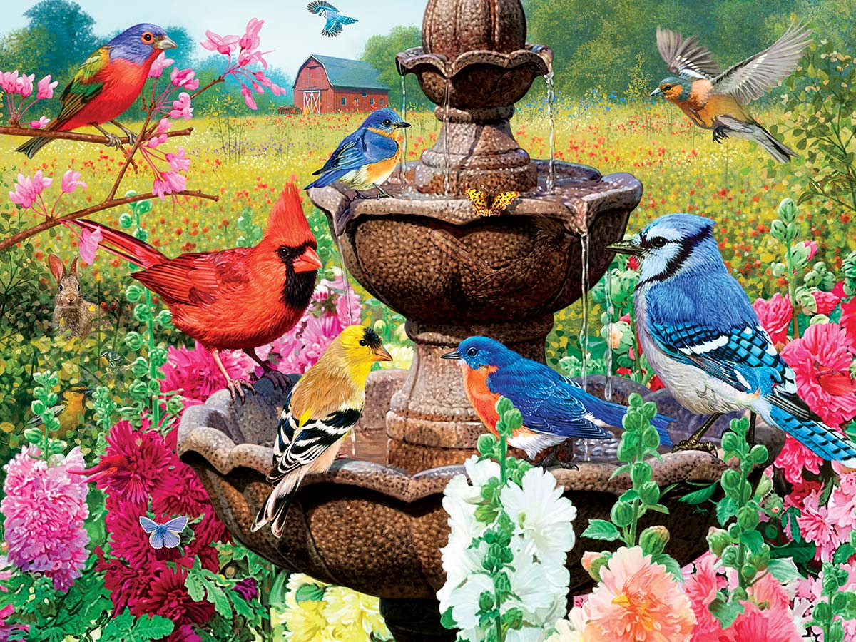 Garden of Song Birds Glow in the Dark Puzzle