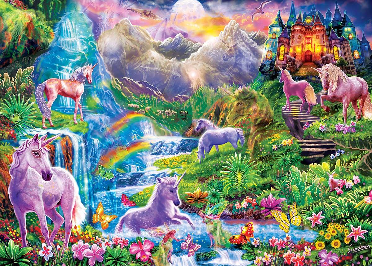 Unicorns Retreat Castles Hidden Images