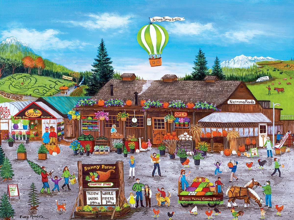 Sunny Farms Fall Jigsaw Puzzle