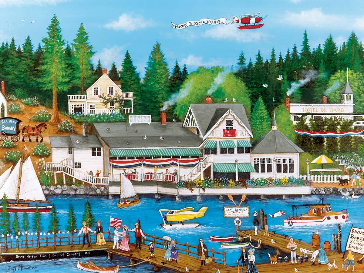 Roche Harbor Americana & Folk Art Jigsaw Puzzle