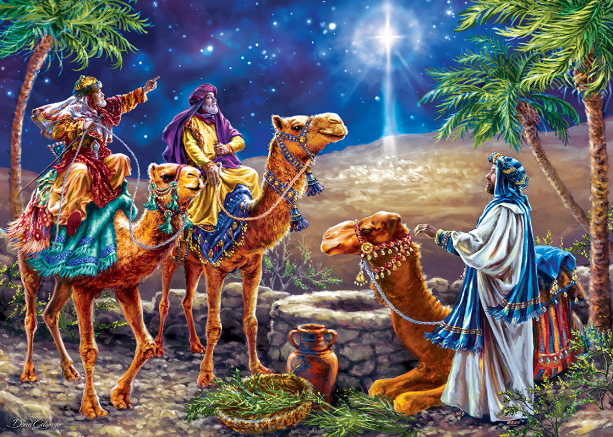 Three Magi Religious Glitter / Shimmer / Foil Puzzles