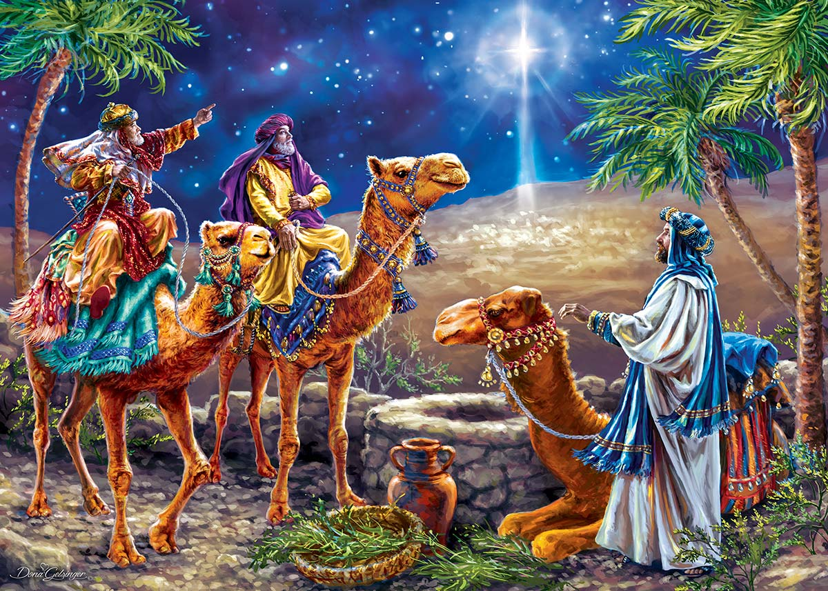 Three Magi Christmas Glitter / Shimmer / Foil Puzzles