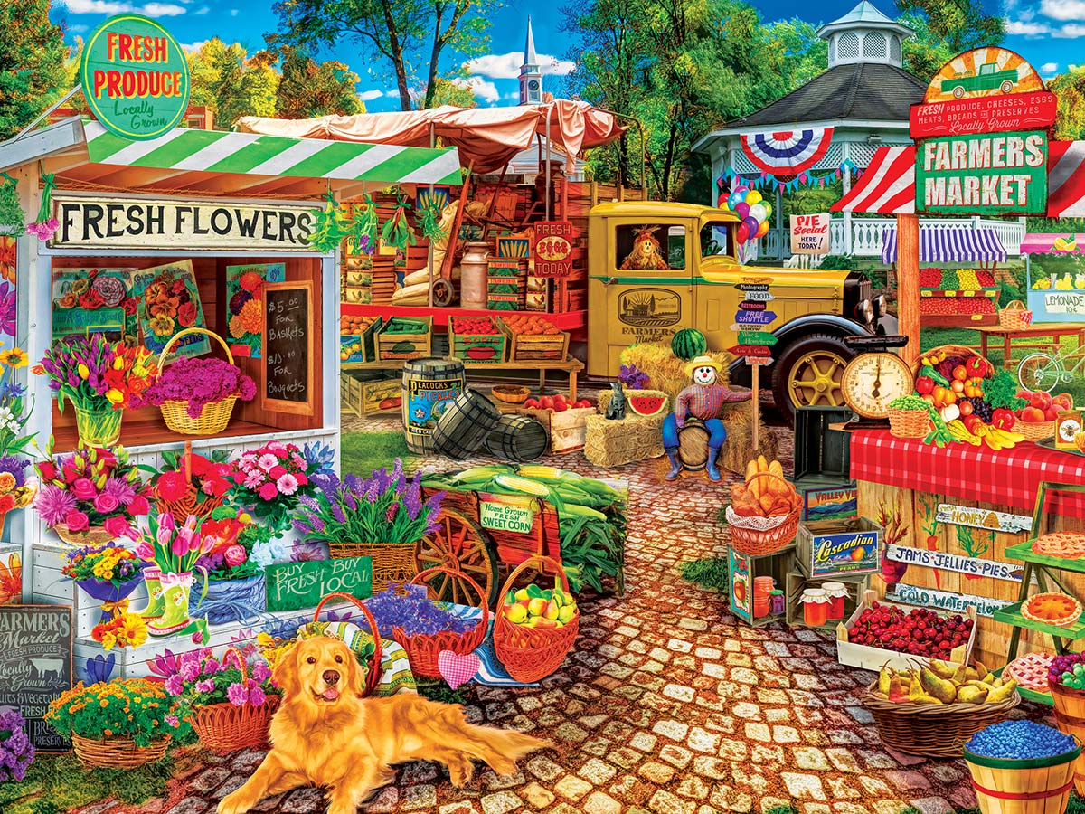 Sale on the Square Farm Jigsaw Puzzle