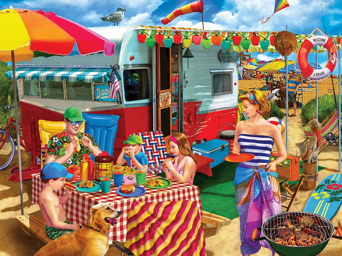 Trip to the Coast Beach Jigsaw Puzzle