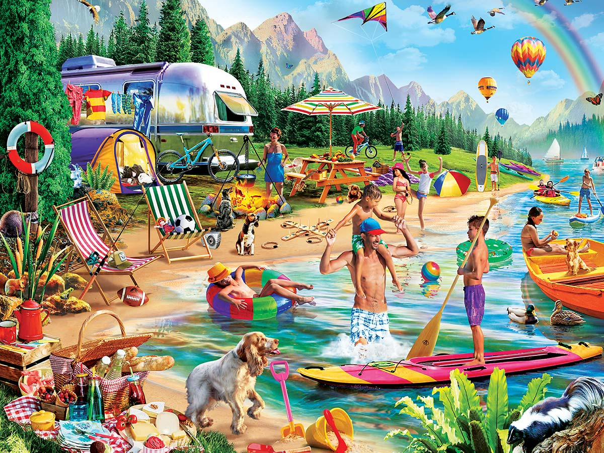 Day at the Lake Outdoors Jigsaw Puzzle