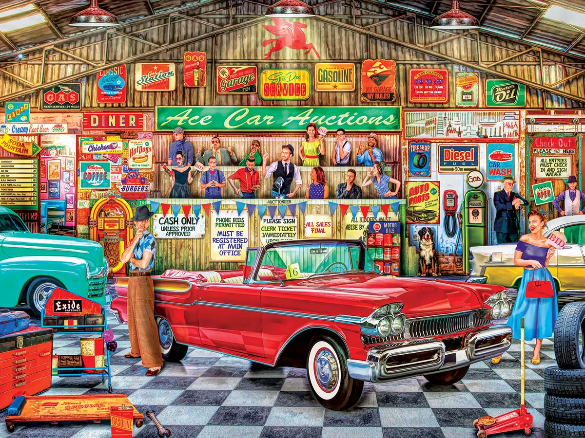 The Auctioneer Vehicles Jigsaw Puzzle