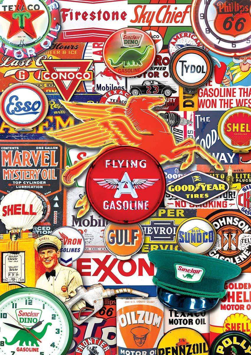 Retro Petrol Nostalgic / Retro Jigsaw Puzzle