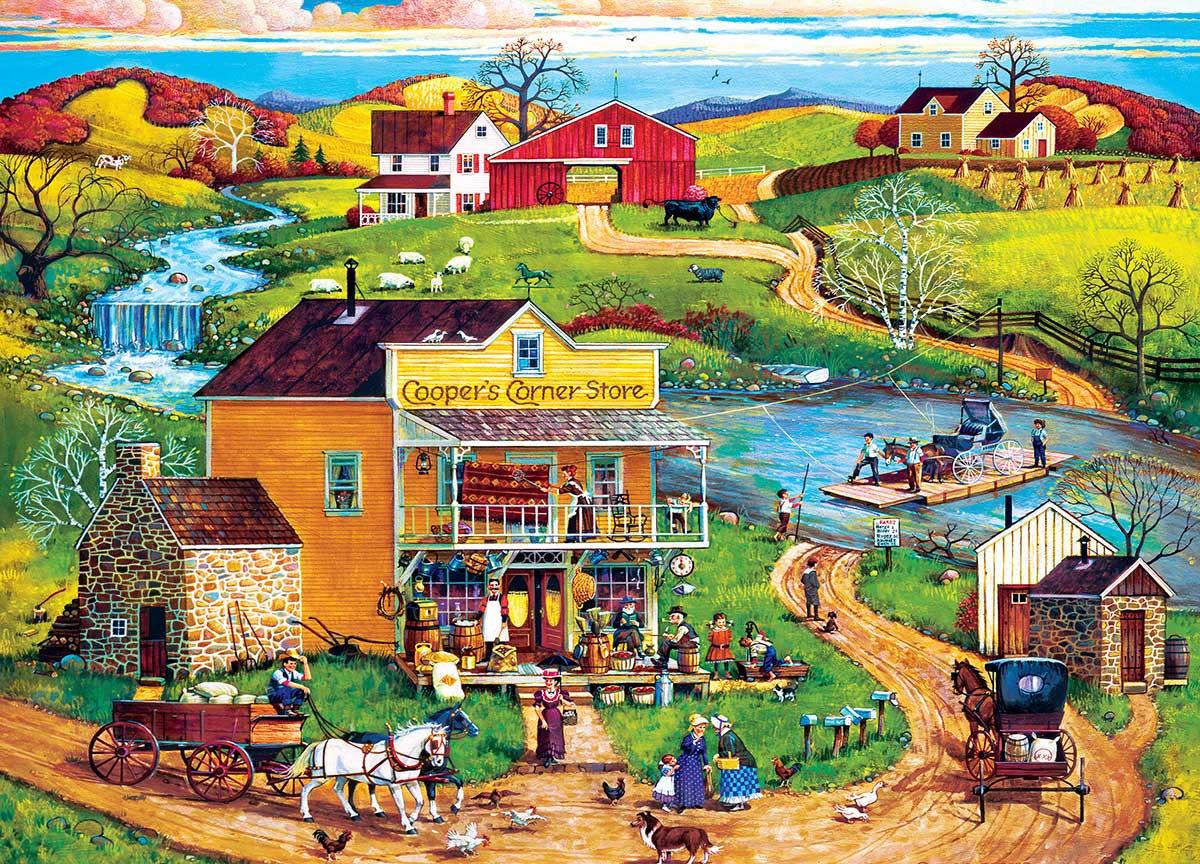Cooper's Corner Americana & Folk Art Jigsaw Puzzle