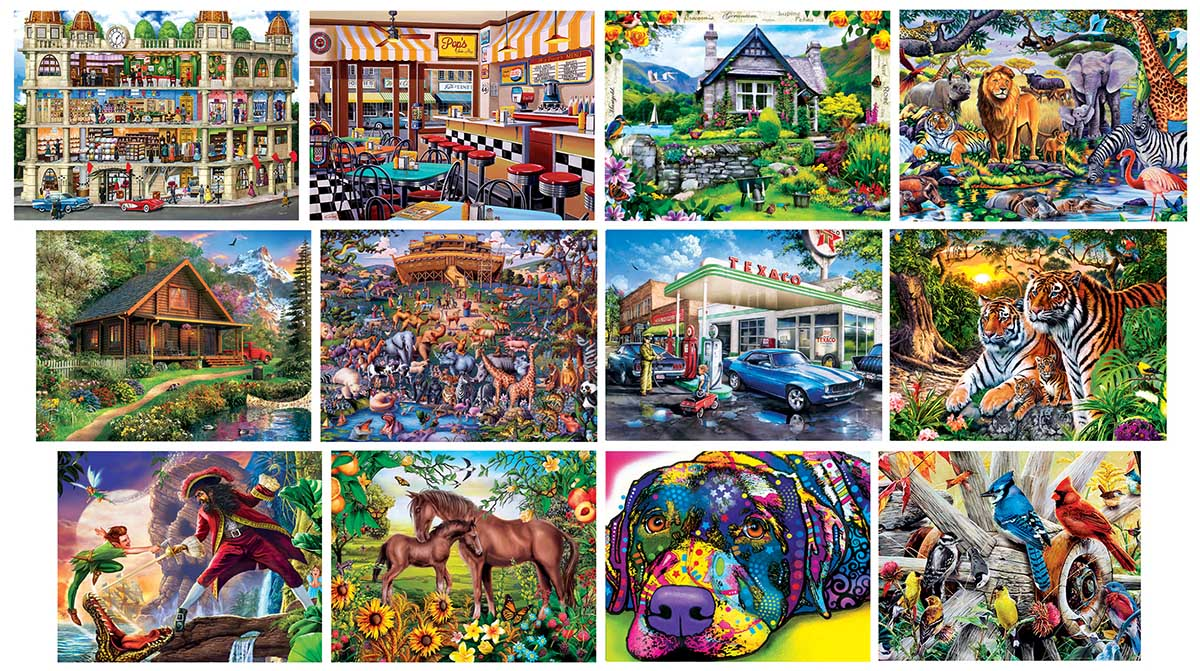 12-Pack - Artist Gallery Bundle Animals Jigsaw Puzzle