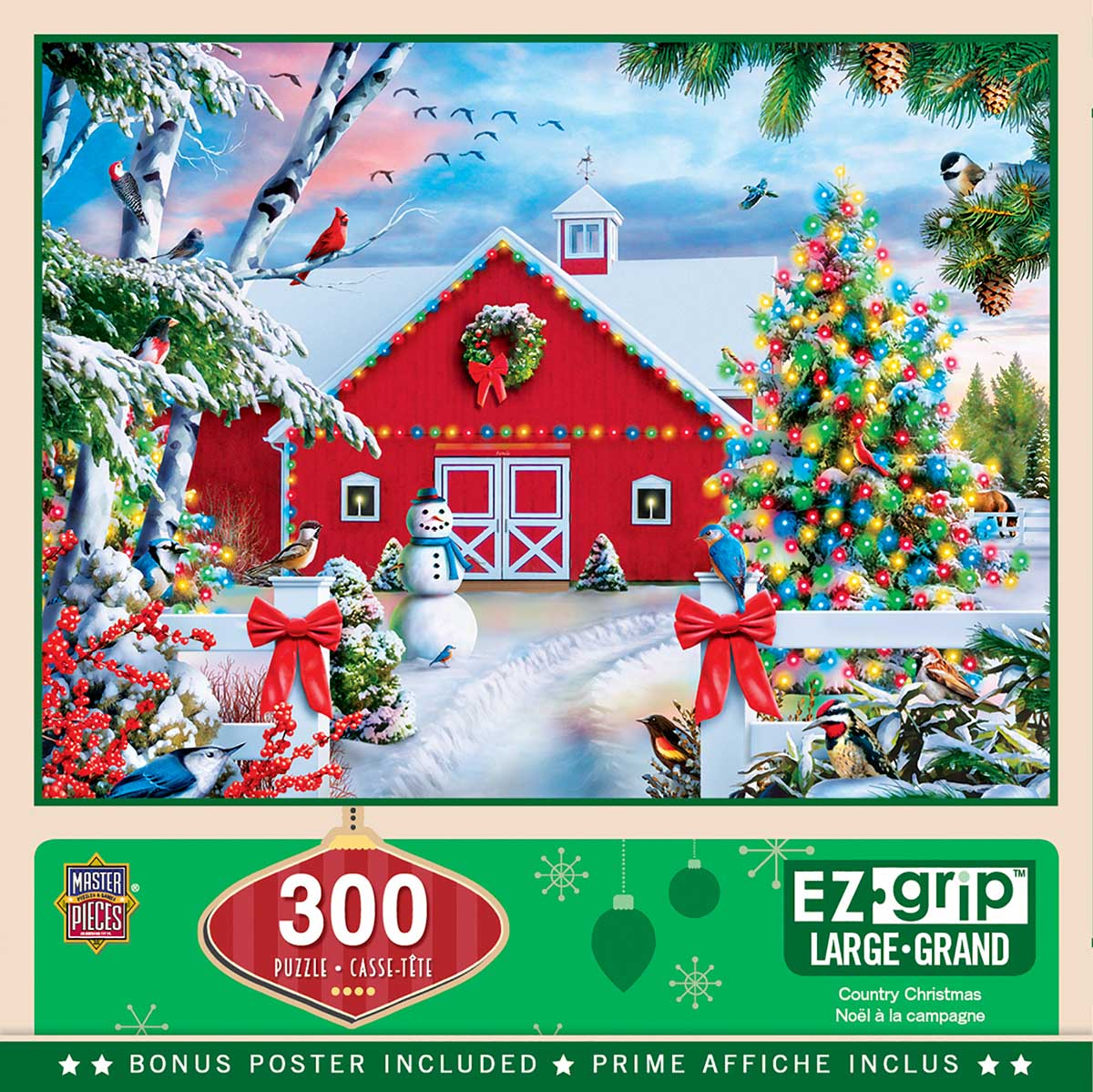 Country Christmas Countryside Jigsaw Puzzle