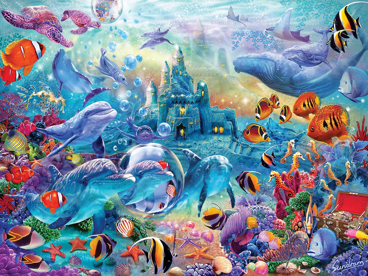 Sea Castle Delight Under The Sea Hidden Images