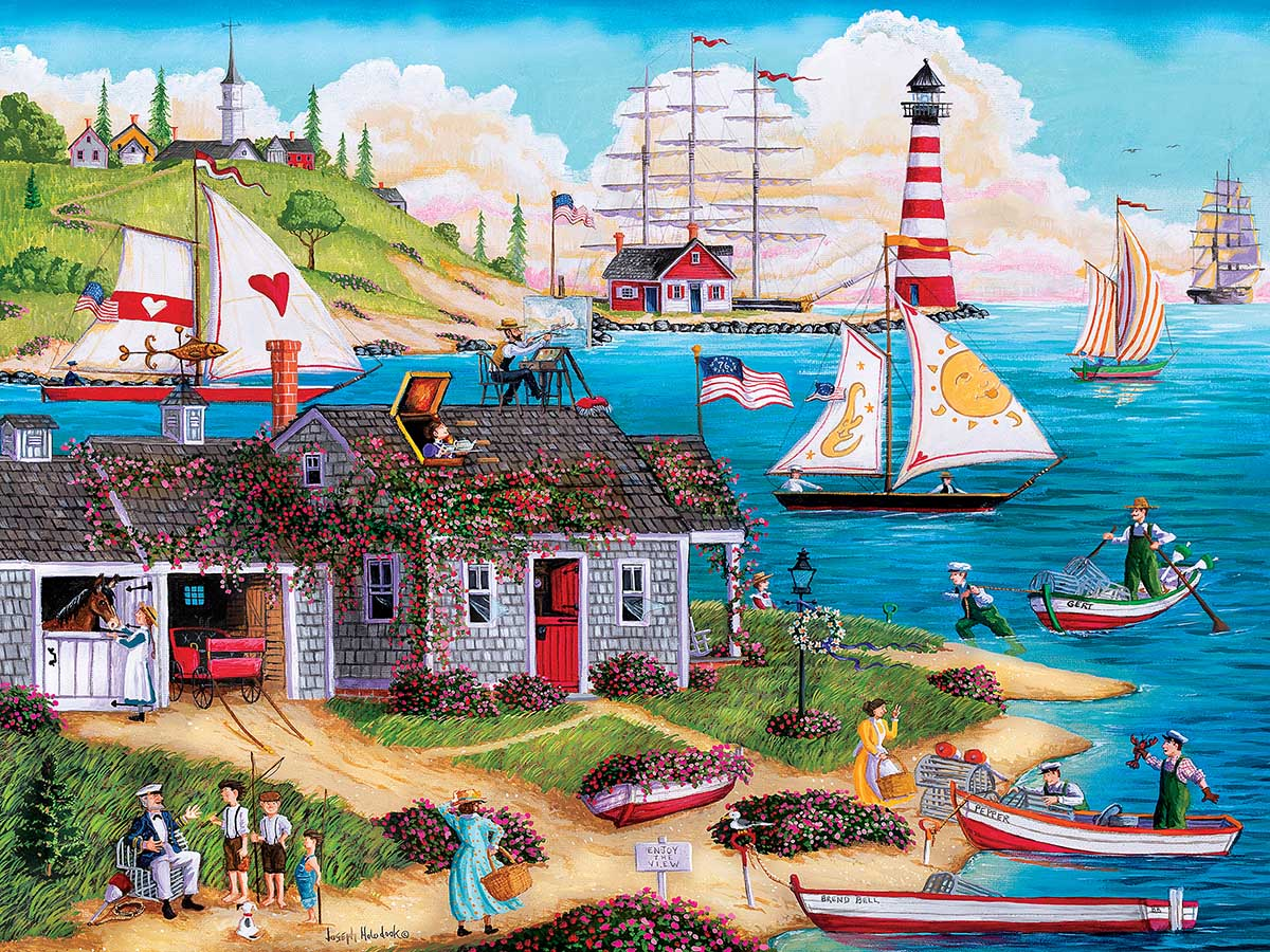 Painter's Point Lighthouses Jigsaw Puzzle