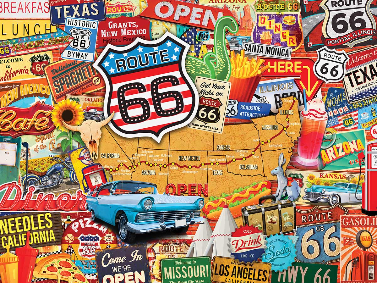 Route 66 Maps / Geography Jigsaw Puzzle