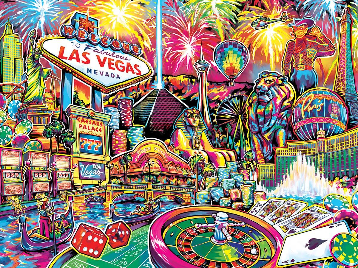 Las Vegas Las Vegas Jigsaw Puzzle