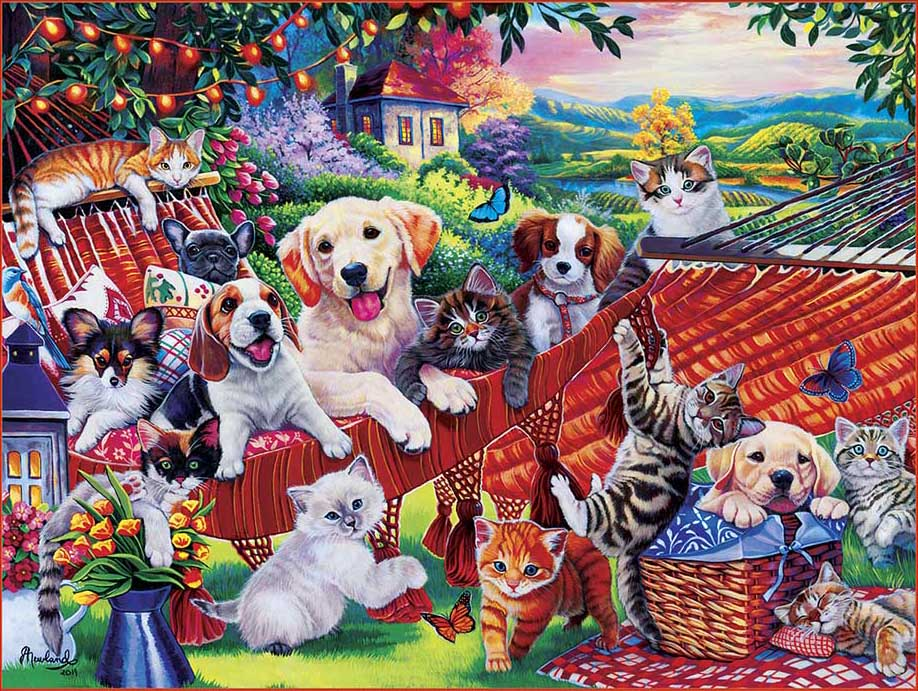 A Lazy Afternoon Cats Jigsaw Puzzle