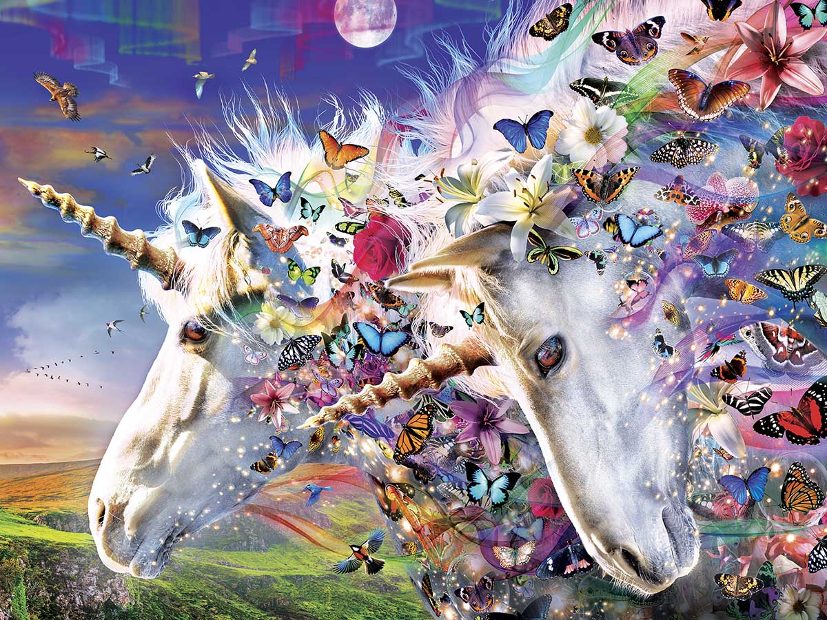Unicorns & Butterflies Butterflies and Insects Jigsaw Puzzle