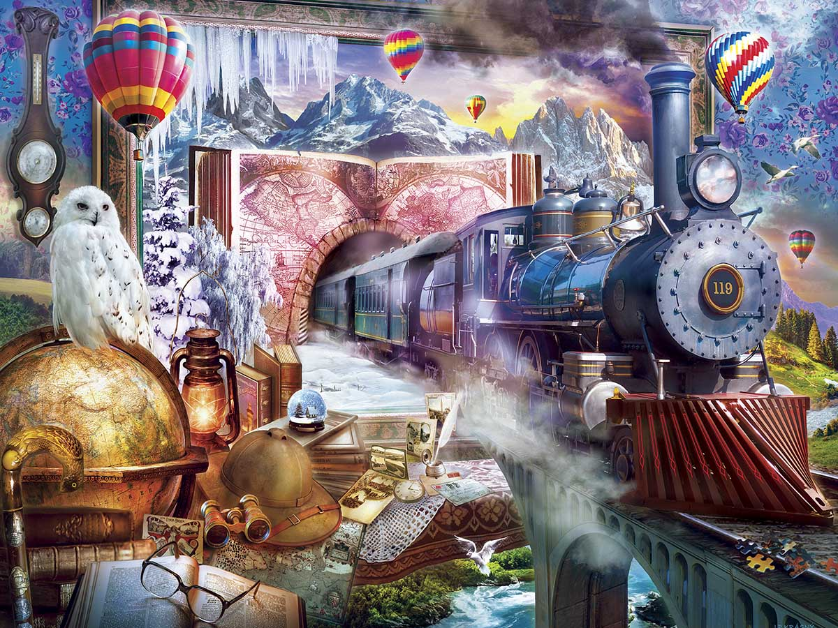 Magical Journey Trains Jigsaw Puzzle