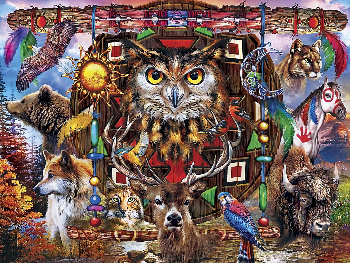 Animal Totems Wolves Jigsaw Puzzle