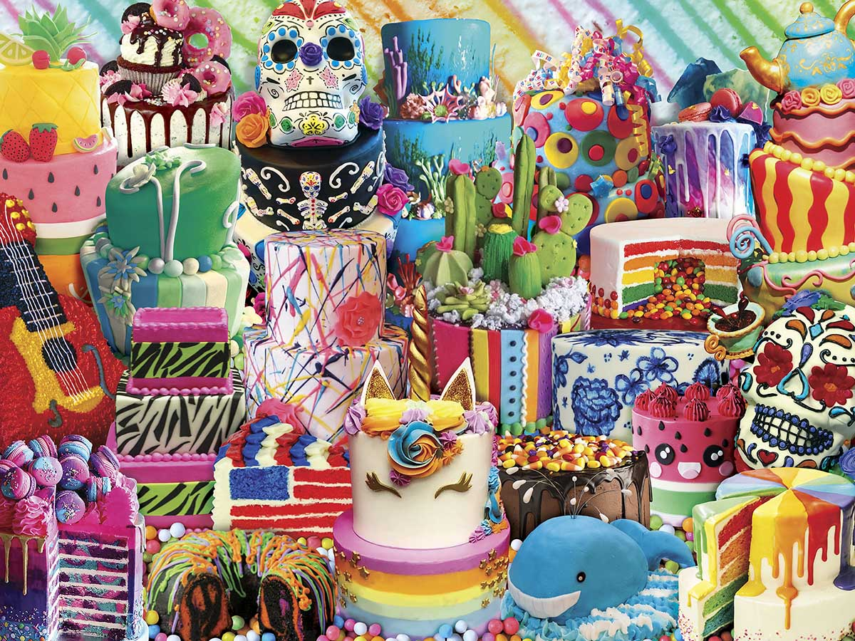 Fancy Cakes Sweets Jigsaw Puzzle