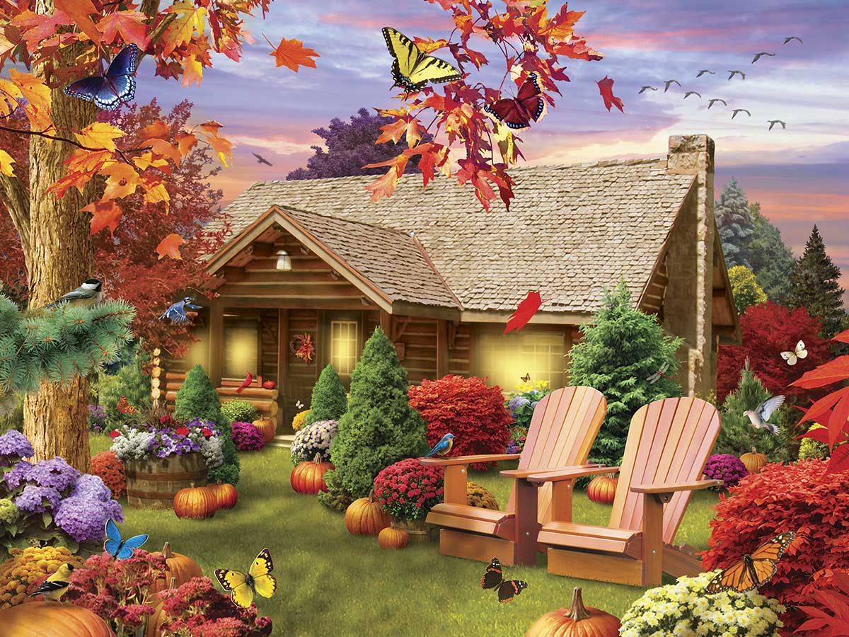 Autumn Warmth Fall Jigsaw Puzzle