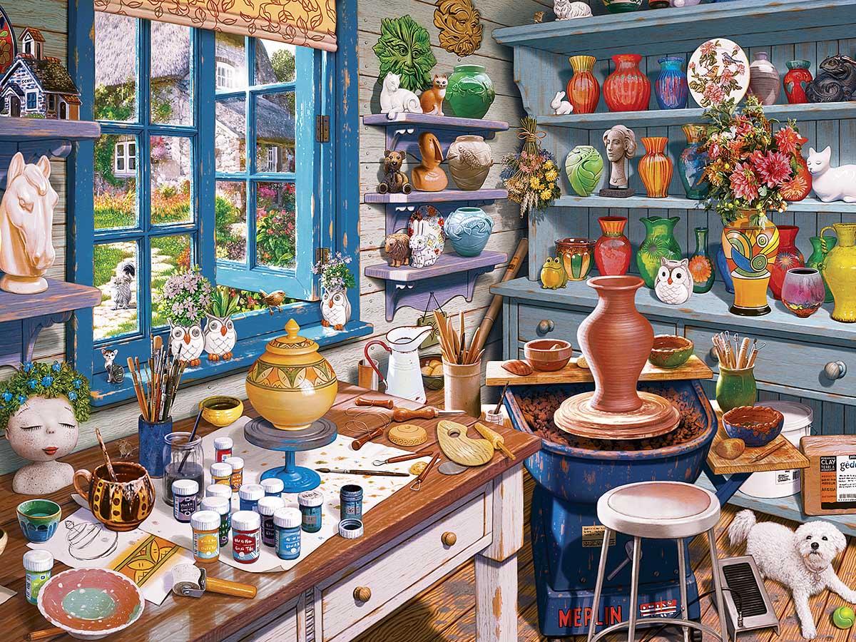 Garden Getaway Domestic Scene Jigsaw Puzzle