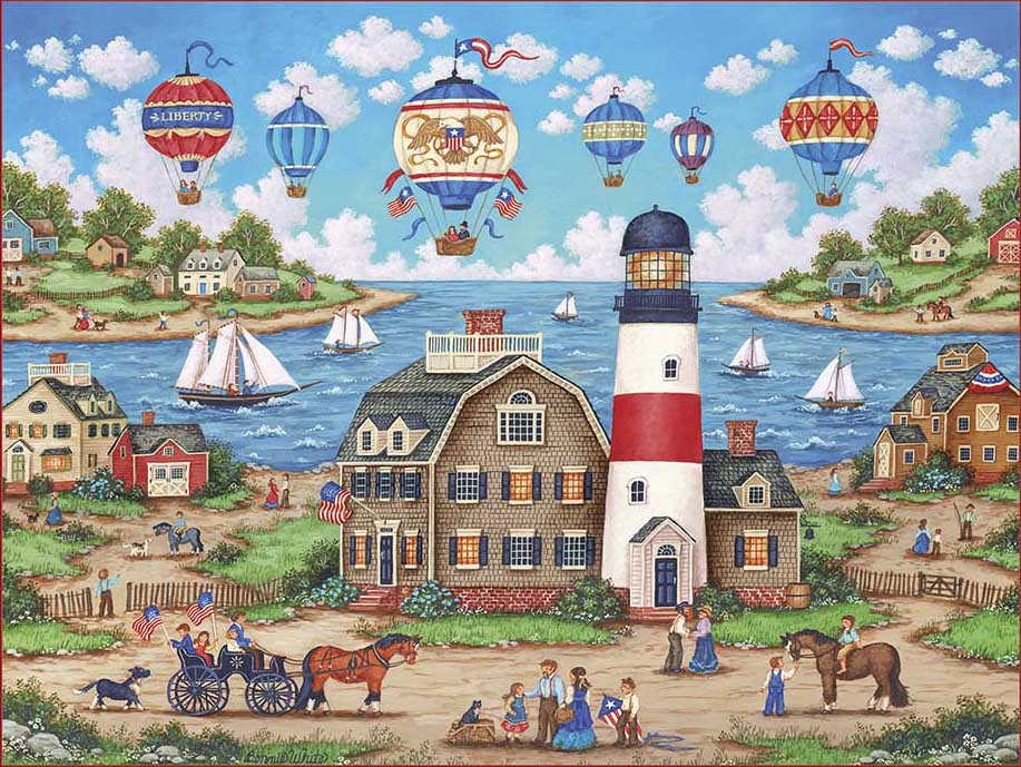 Balloons Over the Bay Balloons Jigsaw Puzzle