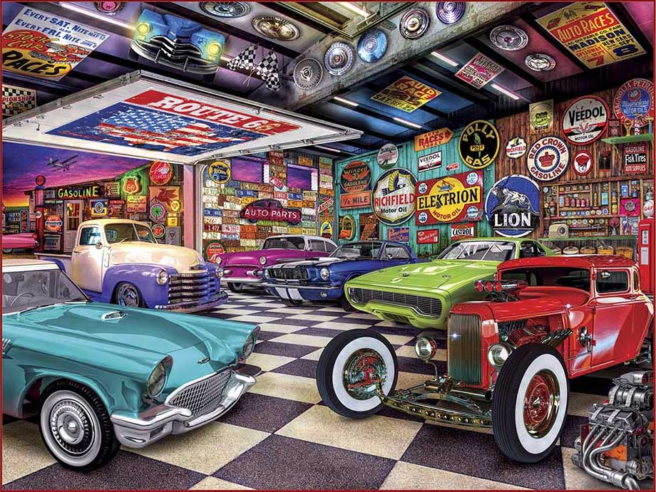 Collector's Garage Cars Jigsaw Puzzle