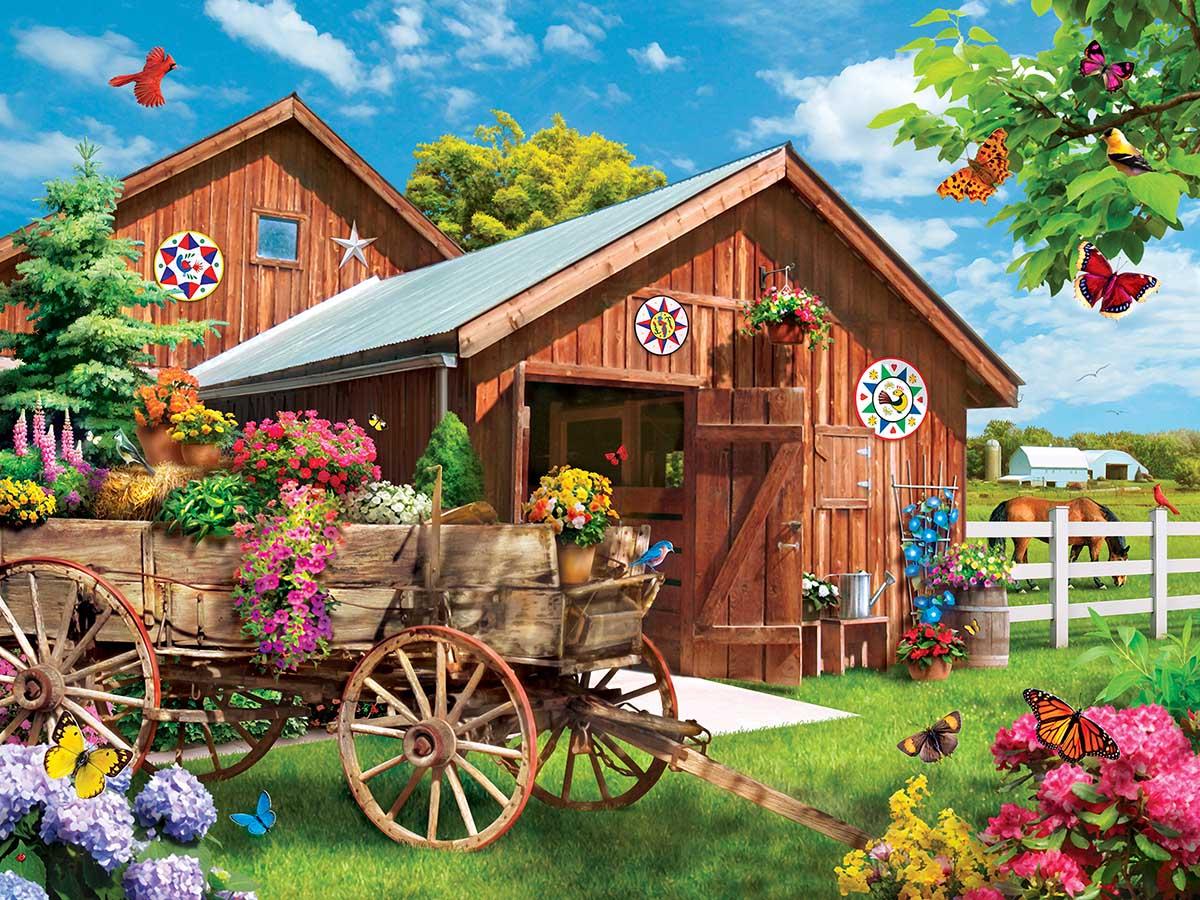 Flying to Flower Farm Farm Jigsaw Puzzle
