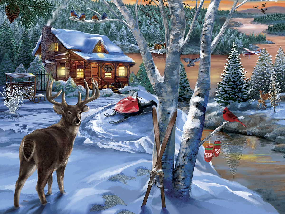 Holiday Visitors Winter Jigsaw Puzzle