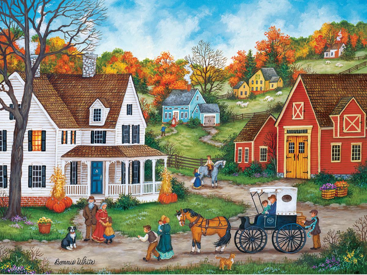 Dinner at Grandmas Americana & Folk Art Jigsaw Puzzle