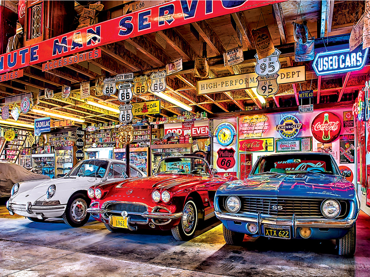 Triple Threat - Scratch and Dent Cars Jigsaw Puzzle