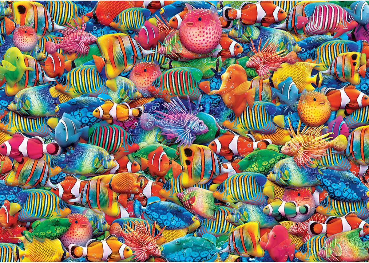 World's Smallest Rainbow Flow Fish Jigsaw Puzzle