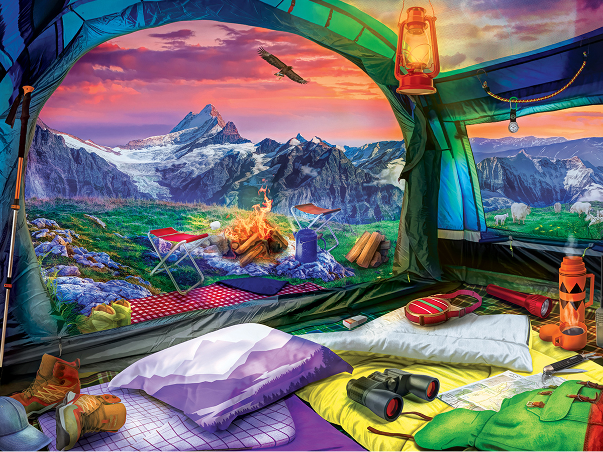 Hiker's Dream Travel Jigsaw Puzzle