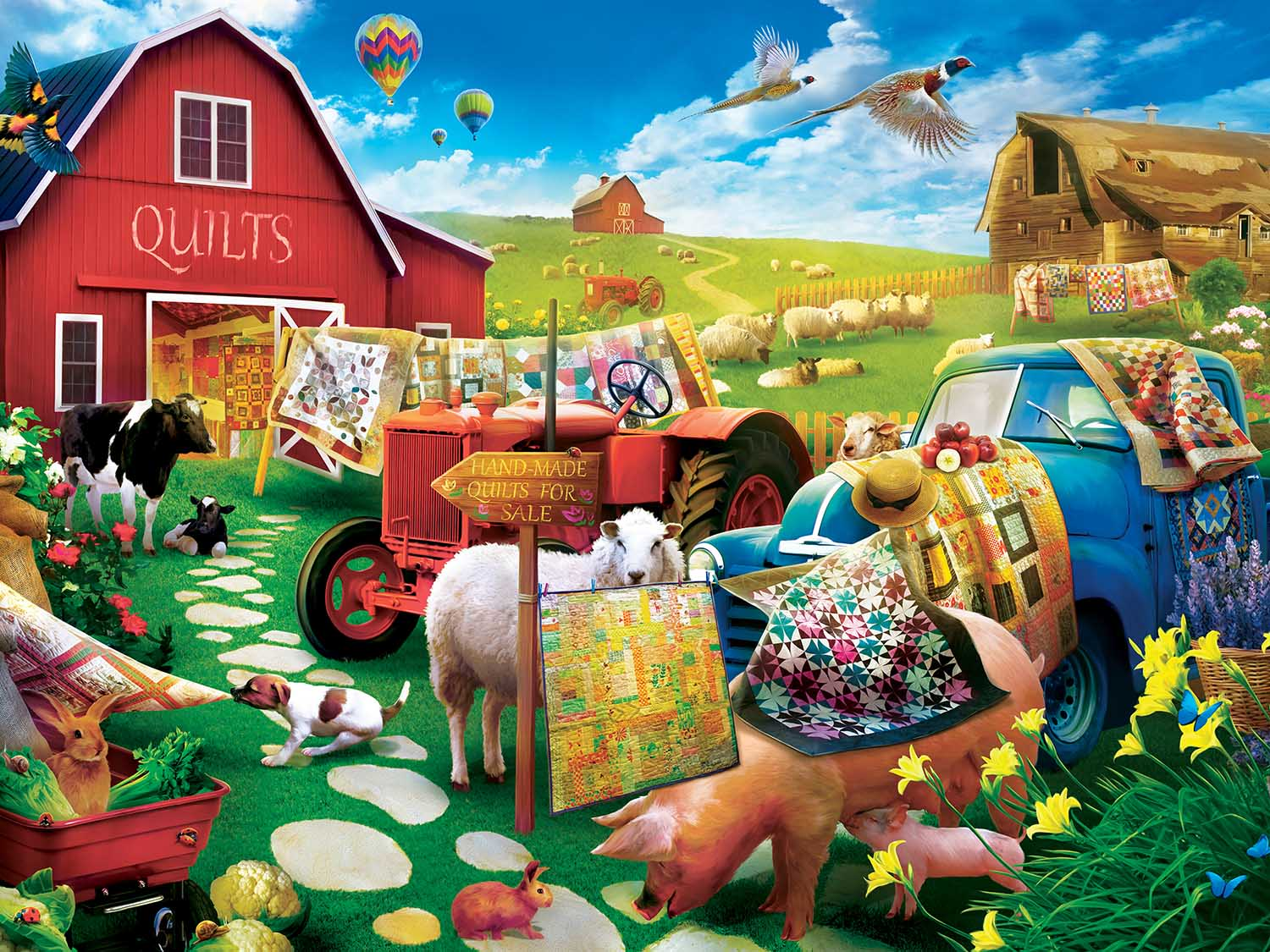 Quilt Country Farm Jigsaw Puzzle