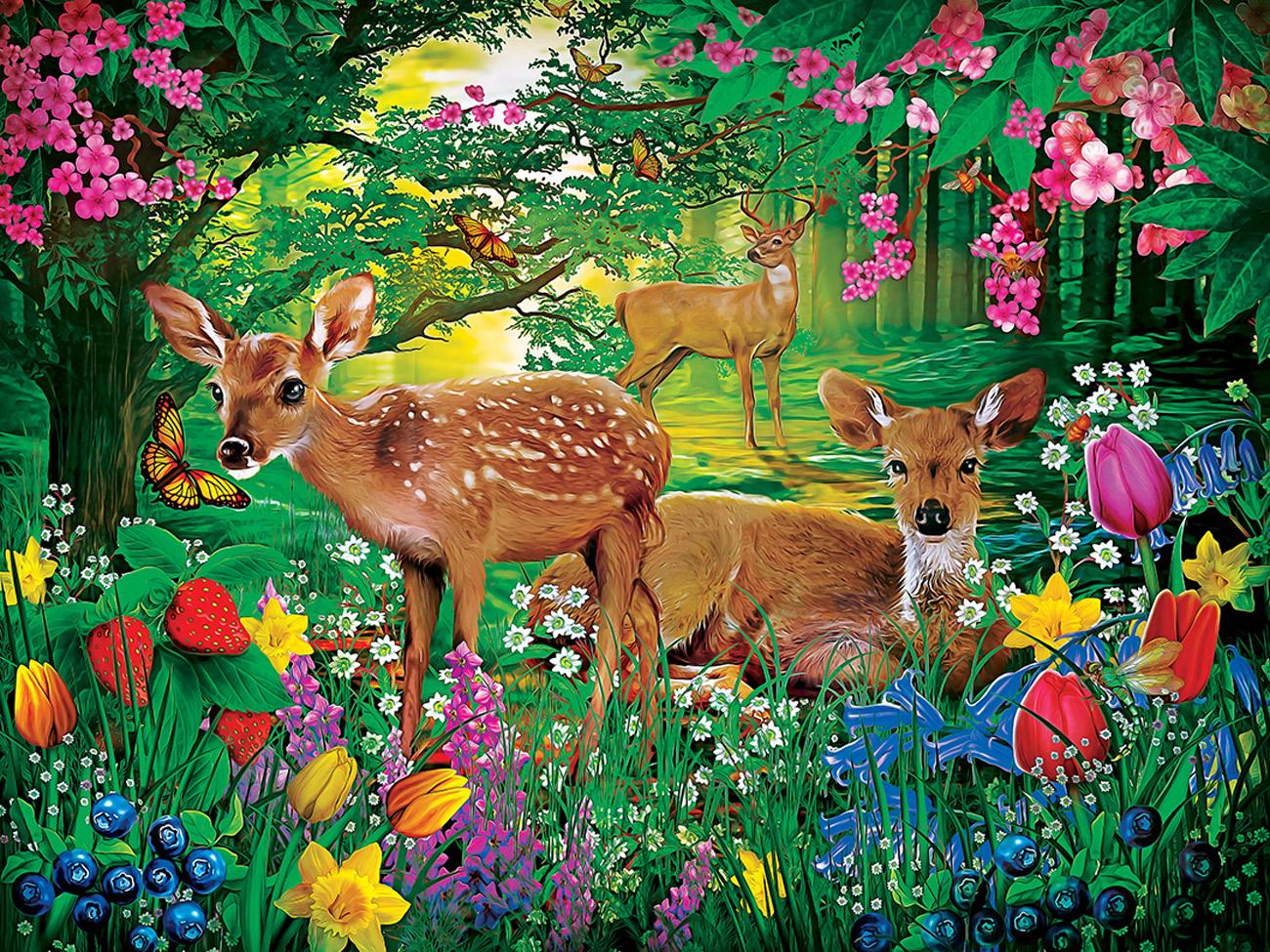 Spirit of Spring Animals Jigsaw Puzzle