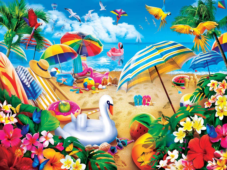 Weekend Escape Beach Jigsaw Puzzle