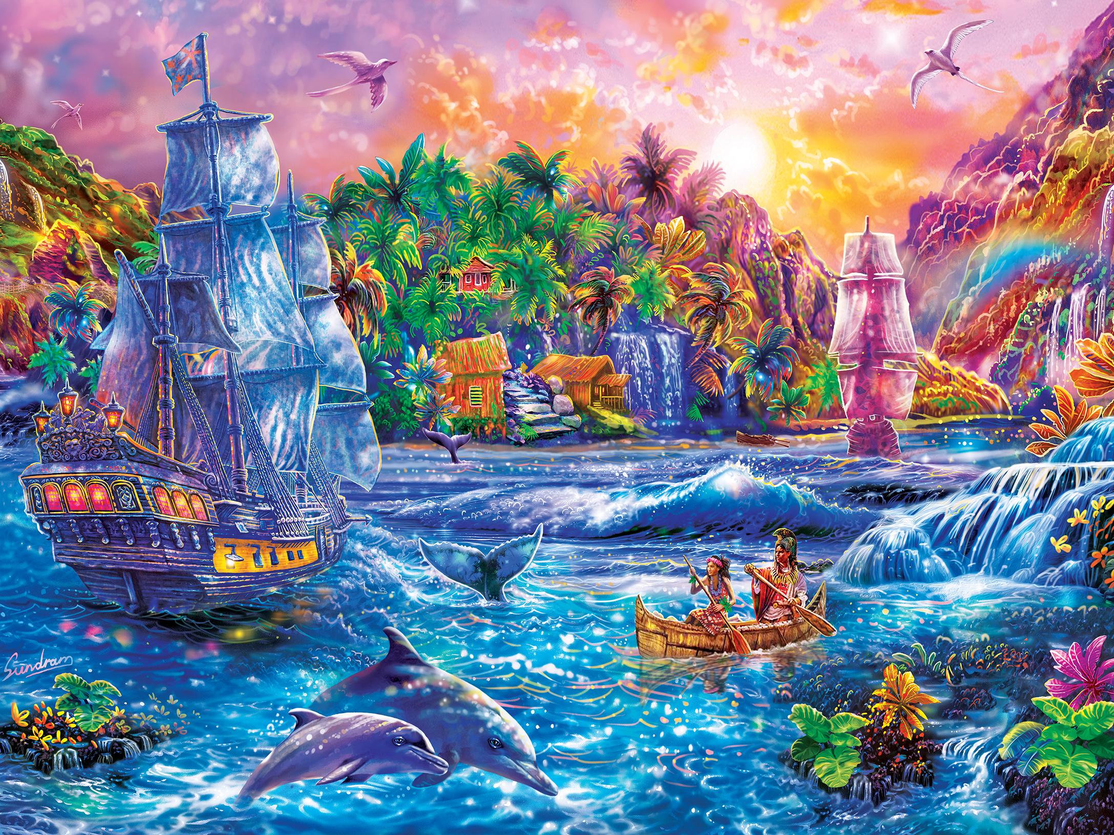 Paradise Found Pirates Jigsaw Puzzle
