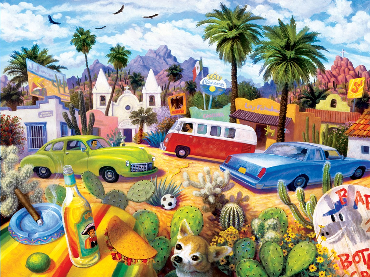 The Other Side of the Border Travel Jigsaw Puzzle