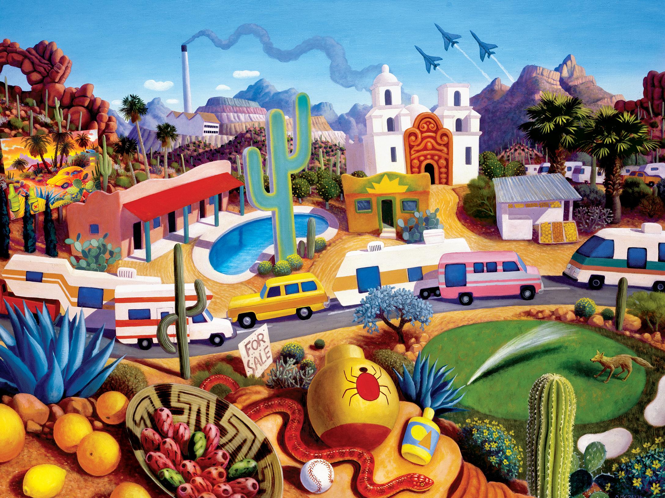 The Land of AZ Travel Jigsaw Puzzle