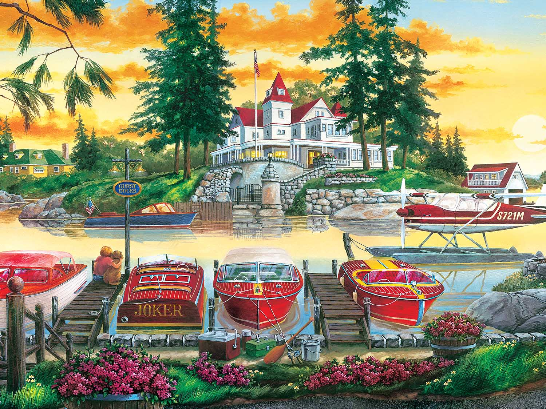 Millionaire's Row Boats Jigsaw Puzzle