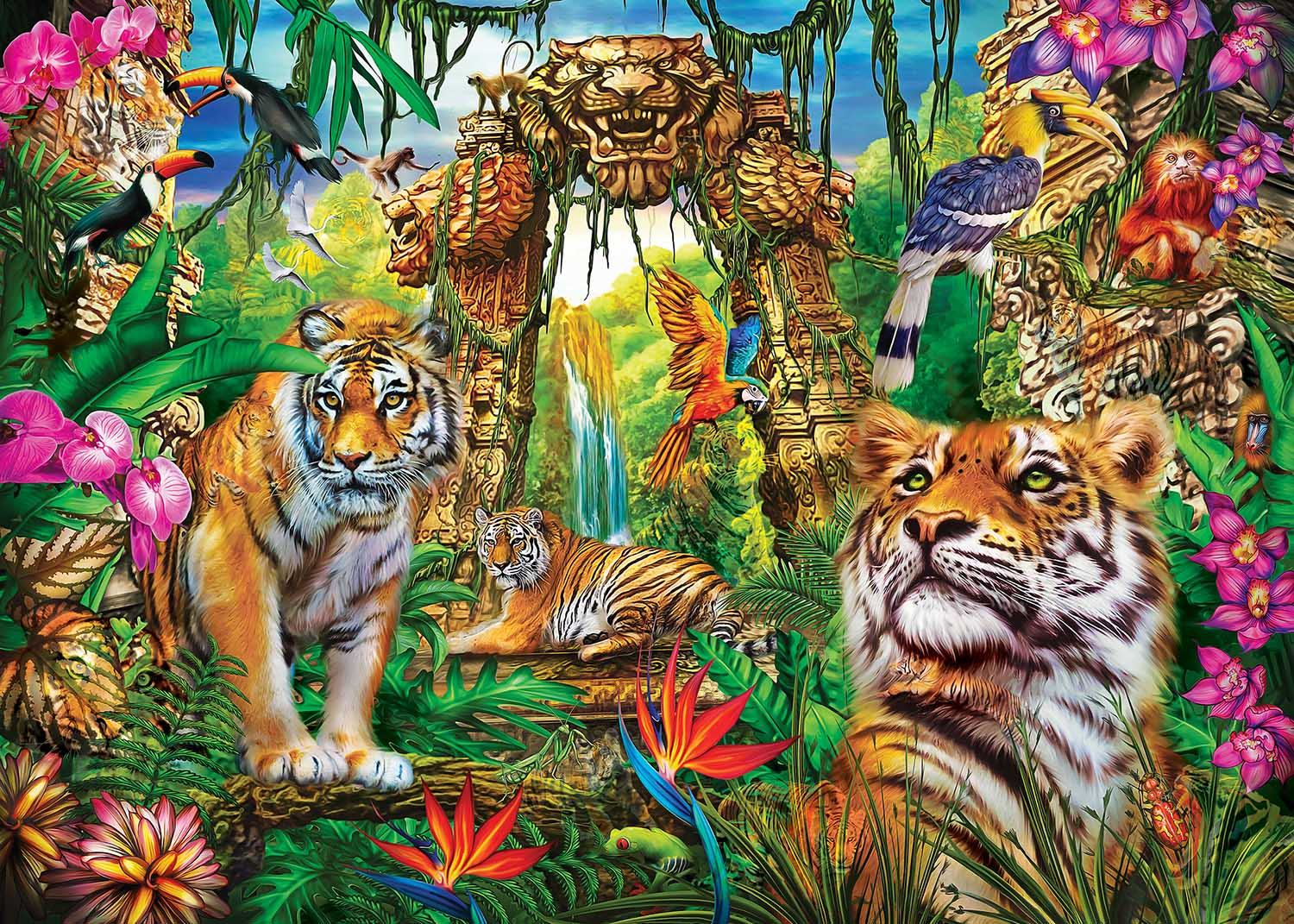 Mystery of the Jungle Jungle Animals Hidden Images