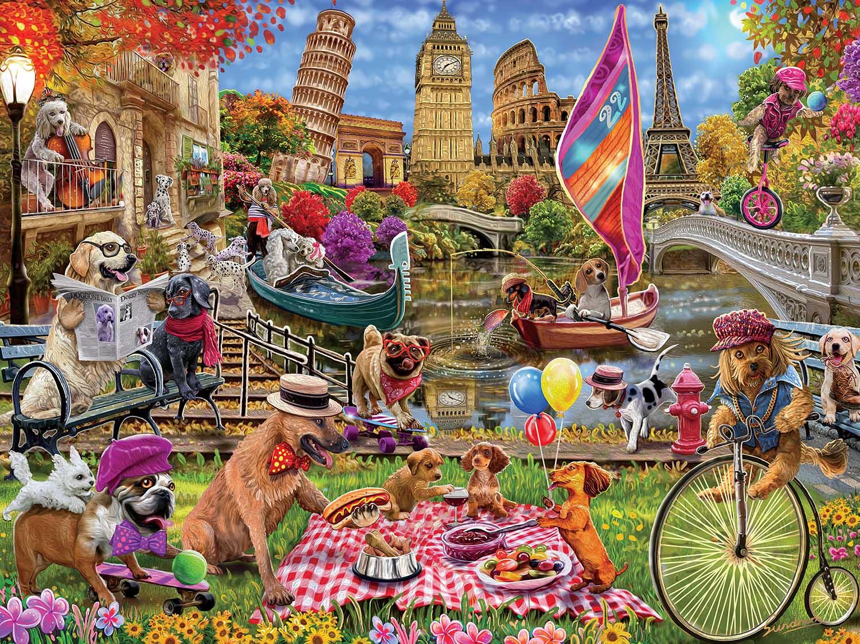 Dog Gone Days Travel Jigsaw Puzzle