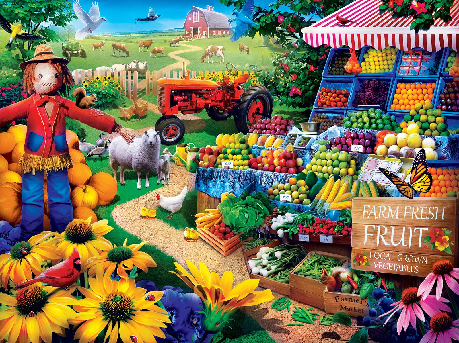 Fresh Farm Fruit Farm Jigsaw Puzzle
