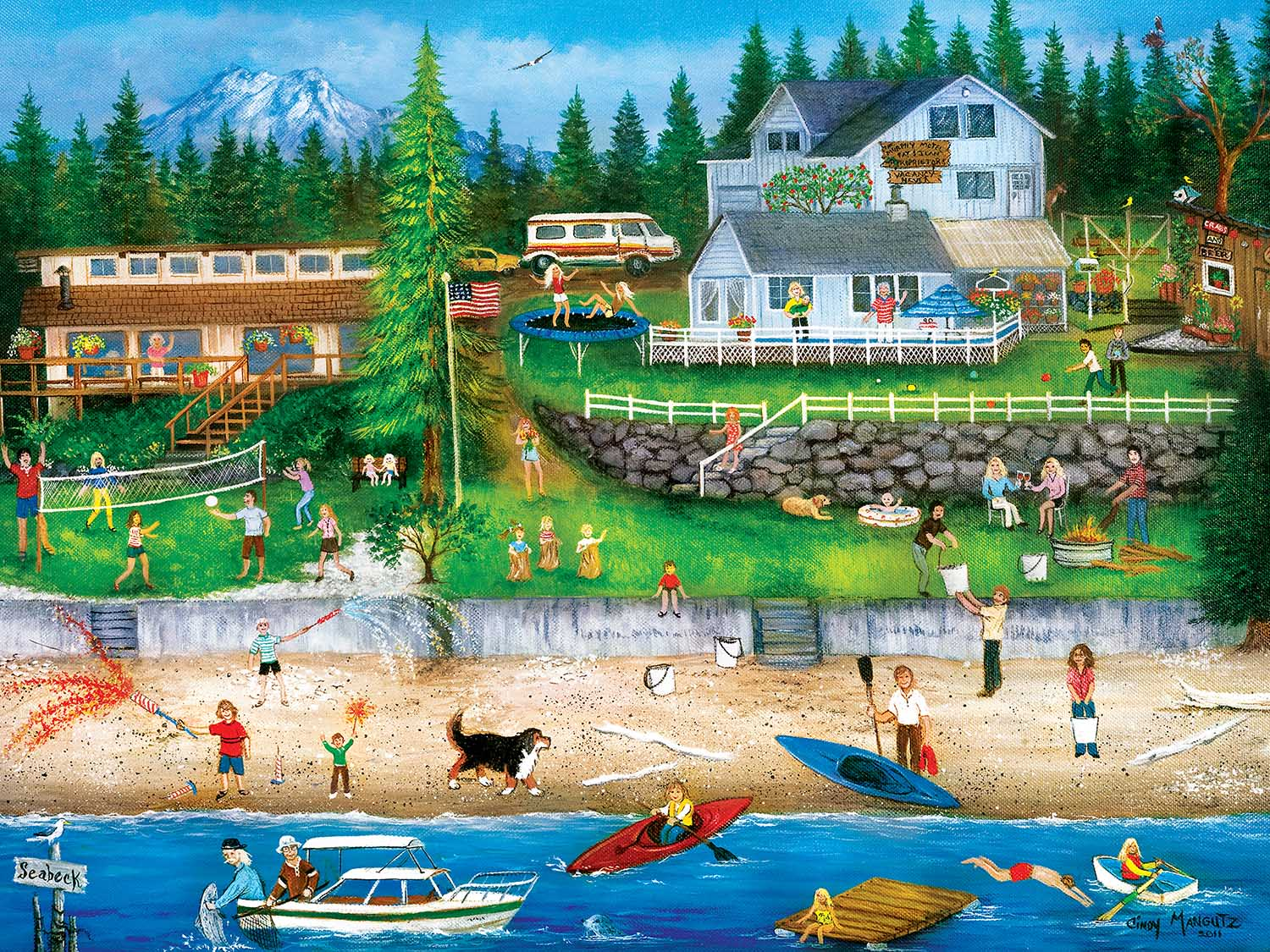 4th of July at Seabeck Fourth of July Jigsaw Puzzle