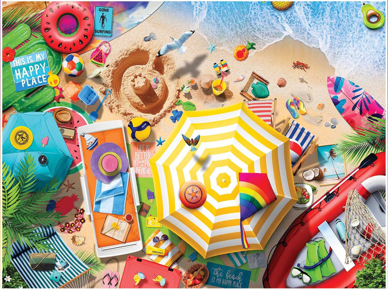 Greetings From The Beach Beach Jigsaw Puzzle