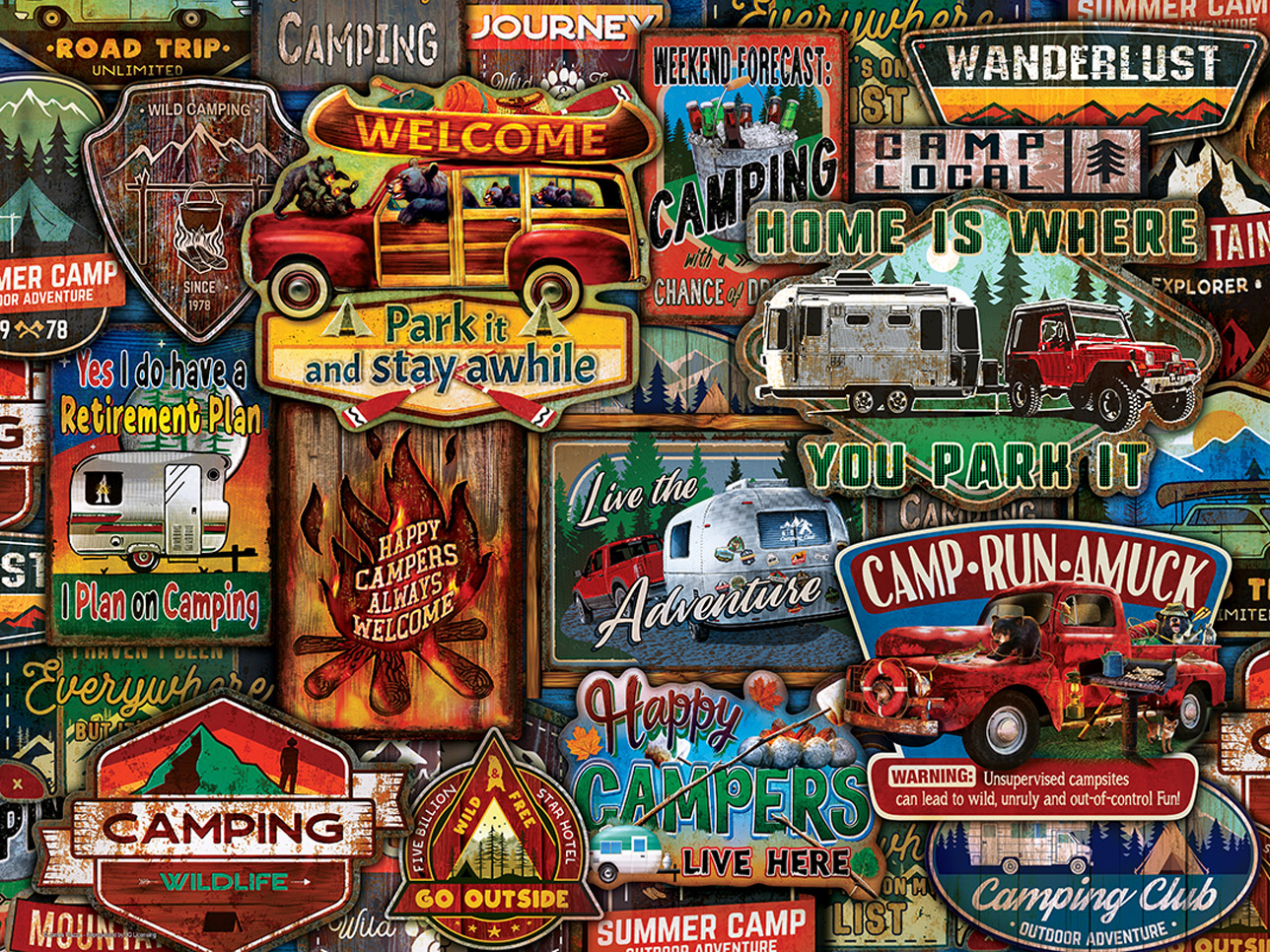 Greetings From The Lake Travel Jigsaw Puzzle